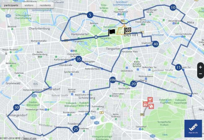 BMW Berlin Marathon Course Map