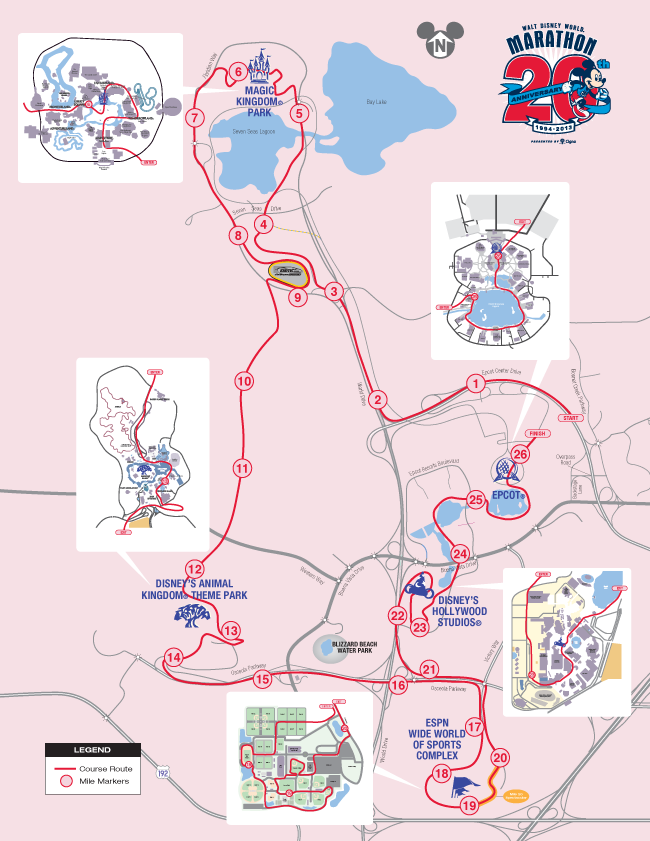 Walt Disney World Marathon Course Map