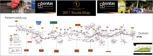 Comrades Marathon Course Map