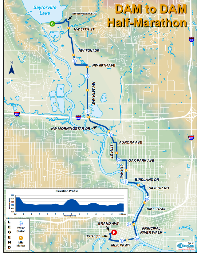 Dam To Dam Half Marathon Course Map