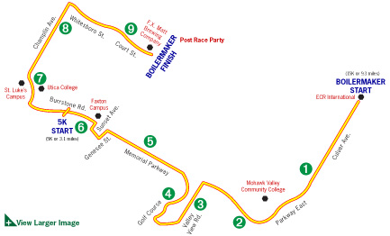 Boilermaker 15K Road Race Course Map