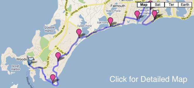 Falmouth Road Race Course Map
