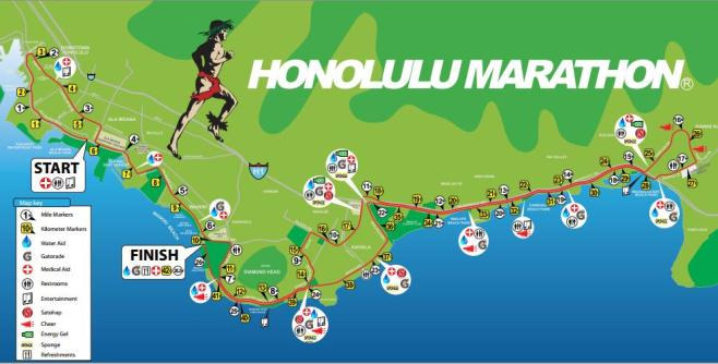 Honolulu Marathon Course Map