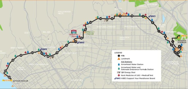 ASICS LA Marathon Course Map