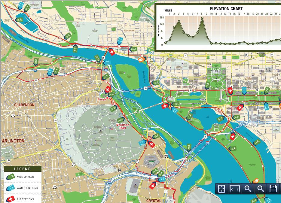 Marine Corps Marathon 2013/2014 – Date, Registration, Route Map