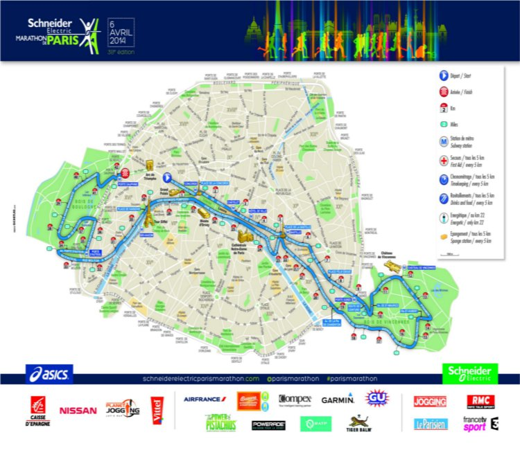 PreviewParis Marathon Date Registration Course Map Route - Paris map 2016