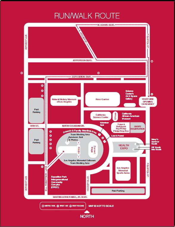 EIF Revlon Run/Walk for Women (LA) 5K Course Map