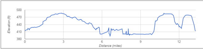Rock 'n' Roll Dallas Half Marathon Profile Map