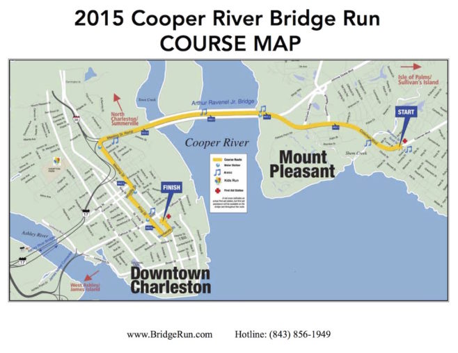 Cooper River Bridge Run Course Map