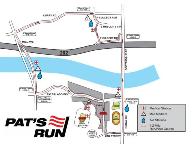Pat's Run Course Map