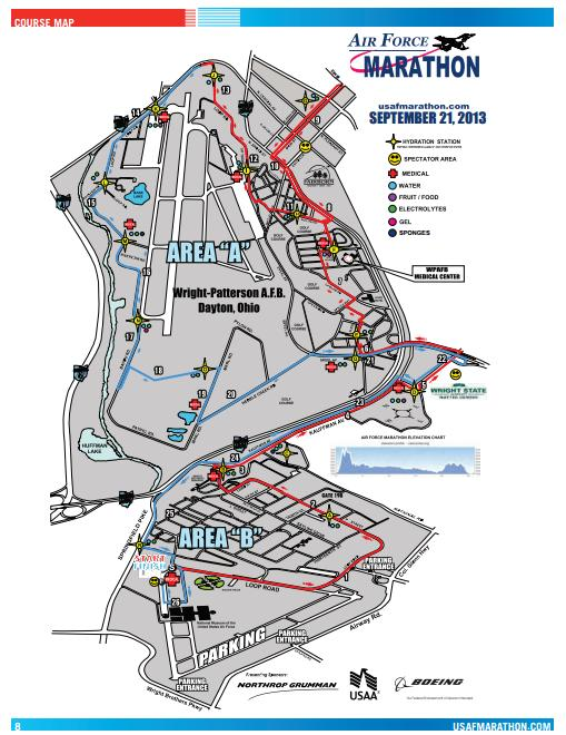 United States Air Force Marathon Course Map