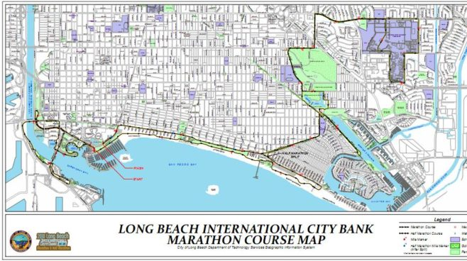 Long Beach Marathon  Course Map