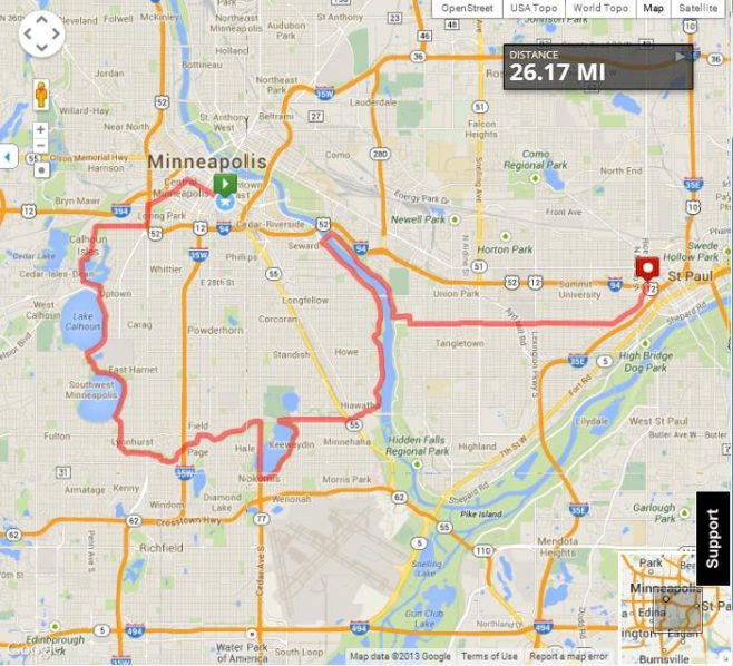 Medtronic Twin Cities Marathon Course Map