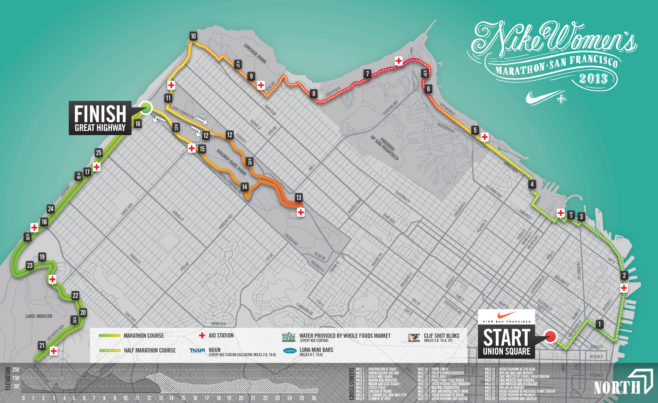 Nike Women's Marathon SF Course Map