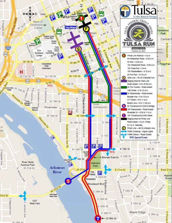 Tulsa Run Course Map