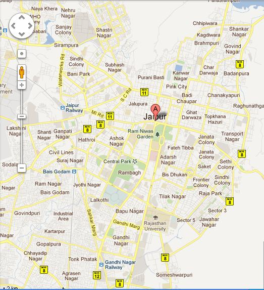 UltraTech Jaipur Half Marathon Course Map
