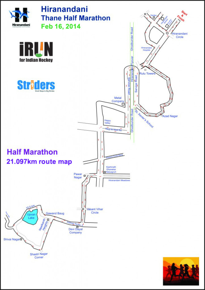 Hiranandani Thane Half Marathon Course Map