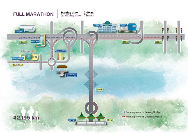 Penang Bridge International Marathon Course Map