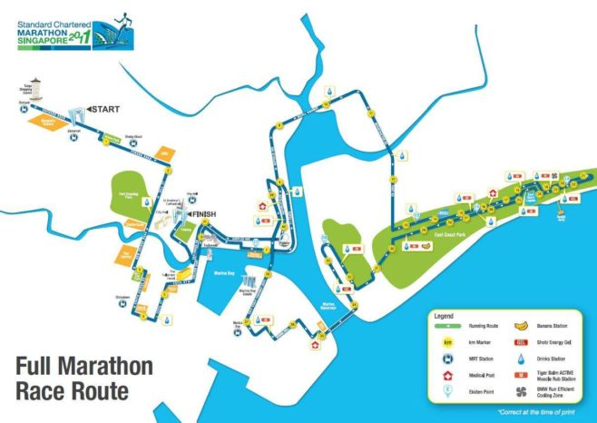 Singapore Marathon Course Map