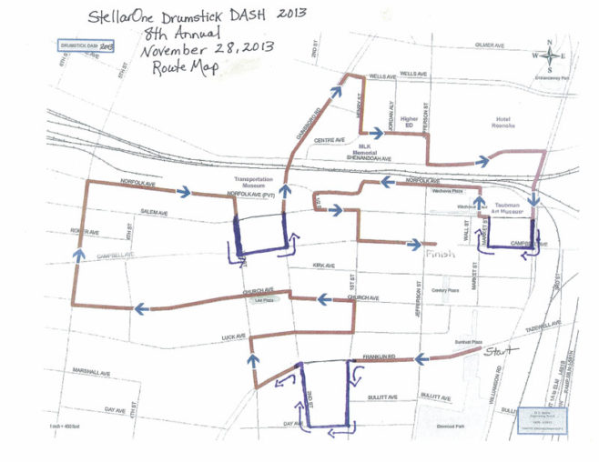 StellarOne Drumstick Dash Course Map