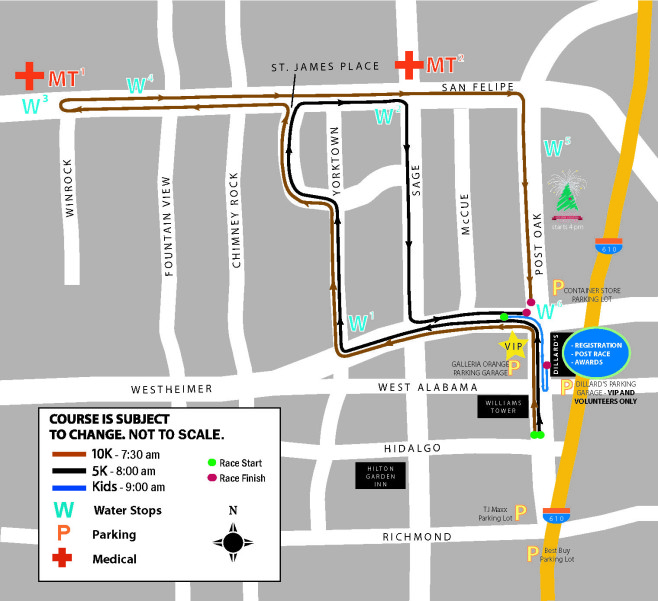 TXU Energy Turkey Trot Course Map
