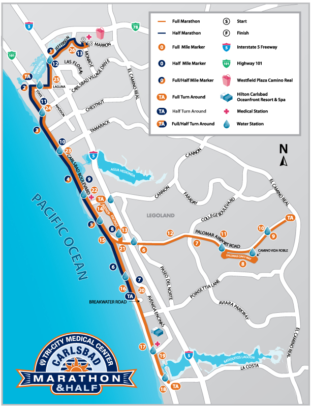 Carlsbad Half Marathon Course Map