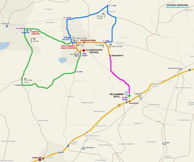 Mutthu Marathon Course Map