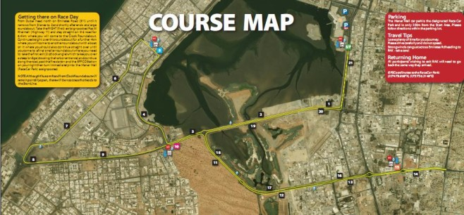 RAK Half Marathon Course Map