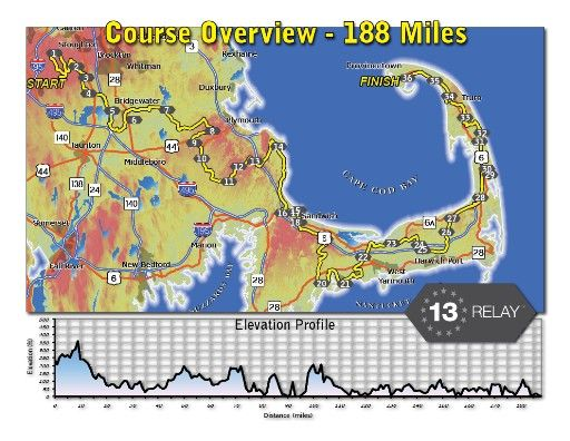 Ragnar Relay Cape Cod Course Map