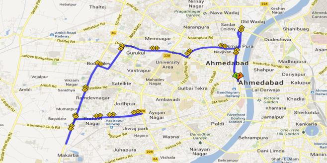 Sabarmati Marathon Course Map