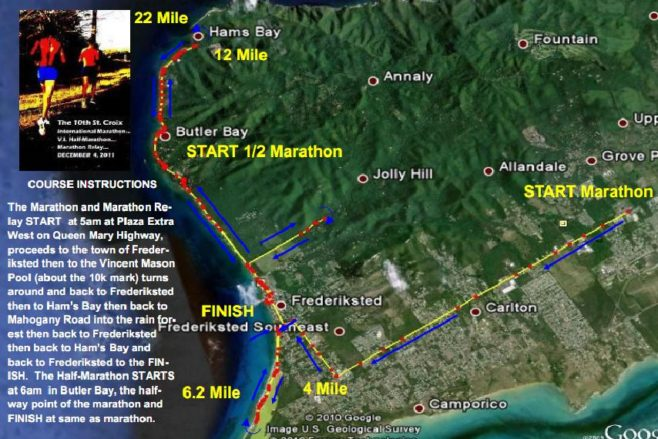 St. Croix International Marathon Course Map