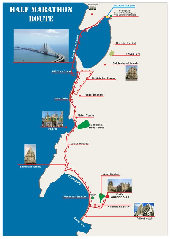Standard Chartered Mumbai Marathon Course Map