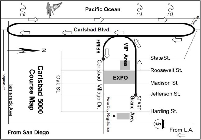 Carlsbad 5000 Course Map
