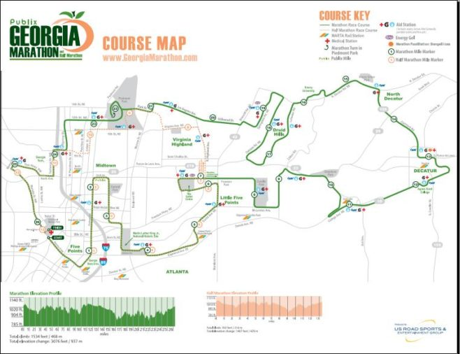 Publix Georgia Marathon Course Map