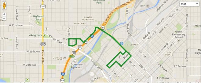 Running Of The Green Lucky 7K Course Map