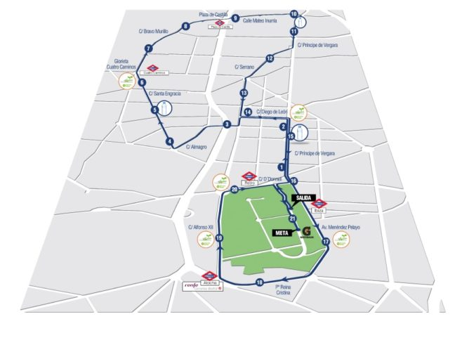 Medio Maratón De Madrid Course Map