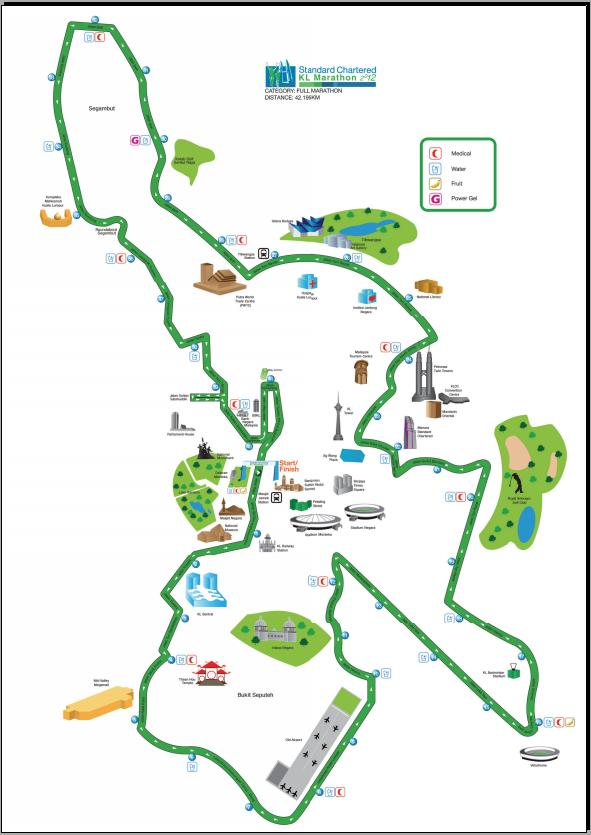Standard Chartered KL Marathon Course Map