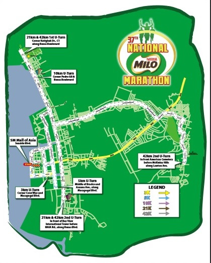 Milo Marathon Manila Course Map