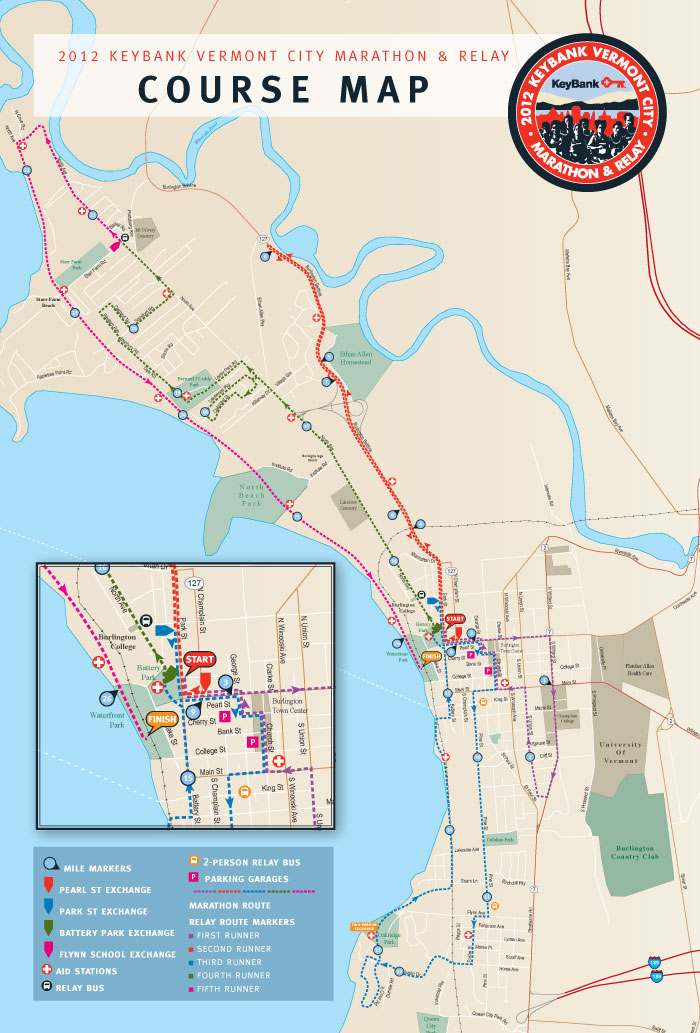 vermont city marathon 2014  2015  u2013 date  registration  course route map