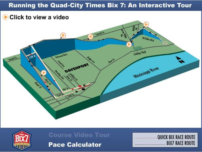 Quad City Times Bix 7 Course Map