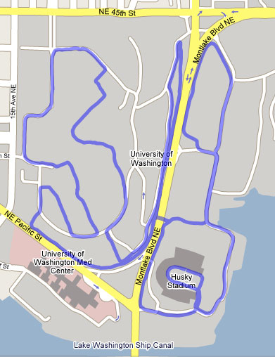 Dawg Dash 10K Course Map