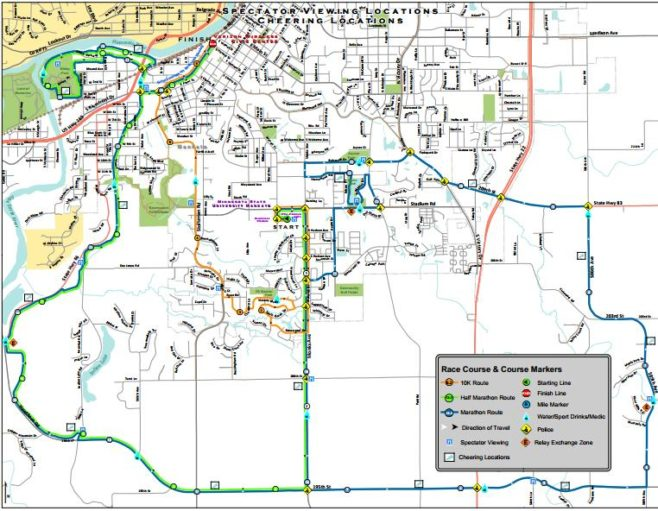 Mankato Marathon Course Map