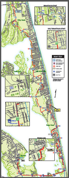 Outer Banks Marathon Course Map