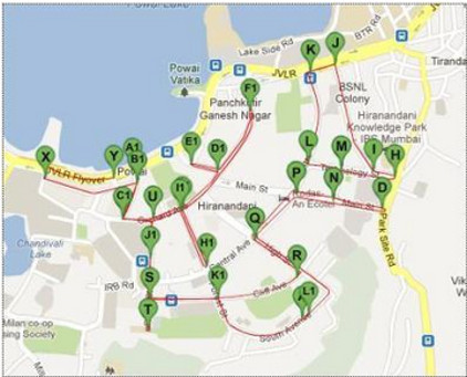 Run Powai Run Course Map