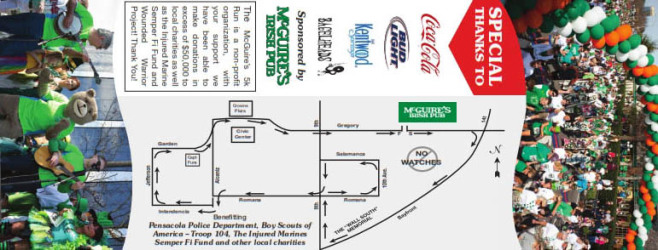 McGuire's St. Patrick's Day 5K Course Map