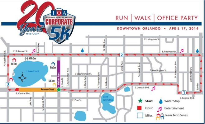 IOA Corporate 5K Course Map