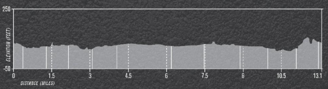 Aramco Houston Half Marathon Profile Map