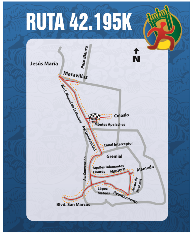 Maraton Aguascalientes Course Map