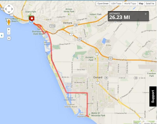 Ventura Marathon Course Map