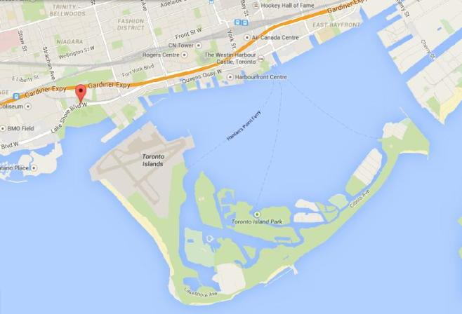 Nike Women's 15K Toronto Course Map